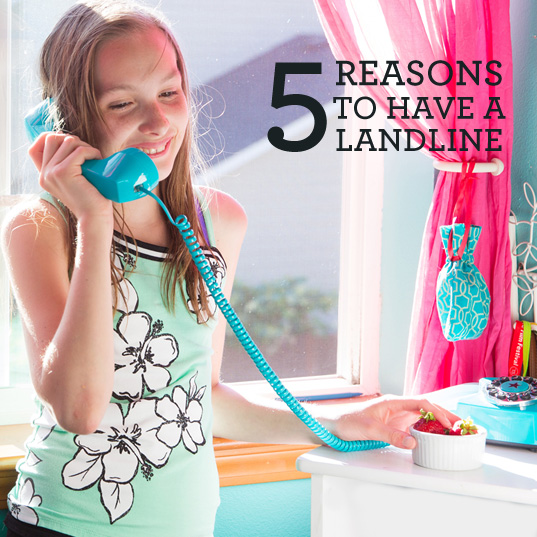 5 reasons to have a landline. Click here for more information.