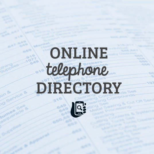 Click here to view the online telephone directory.