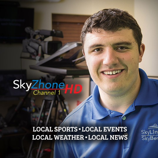 SkyZhone HD Channel 1. Local Sports. Local Events. Local Weather. Local News. Click here to find out more.