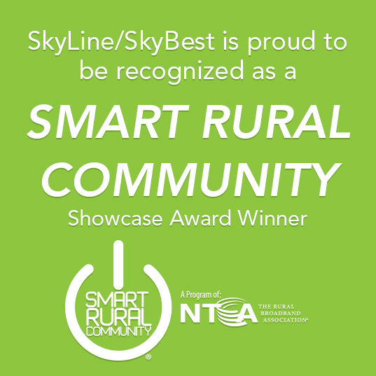SkyLine/SkyBest is proud to be recognized as a  Smart Rural Community Showcase Award Winner