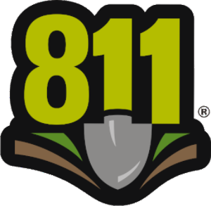 Dial 811 before you dig logo