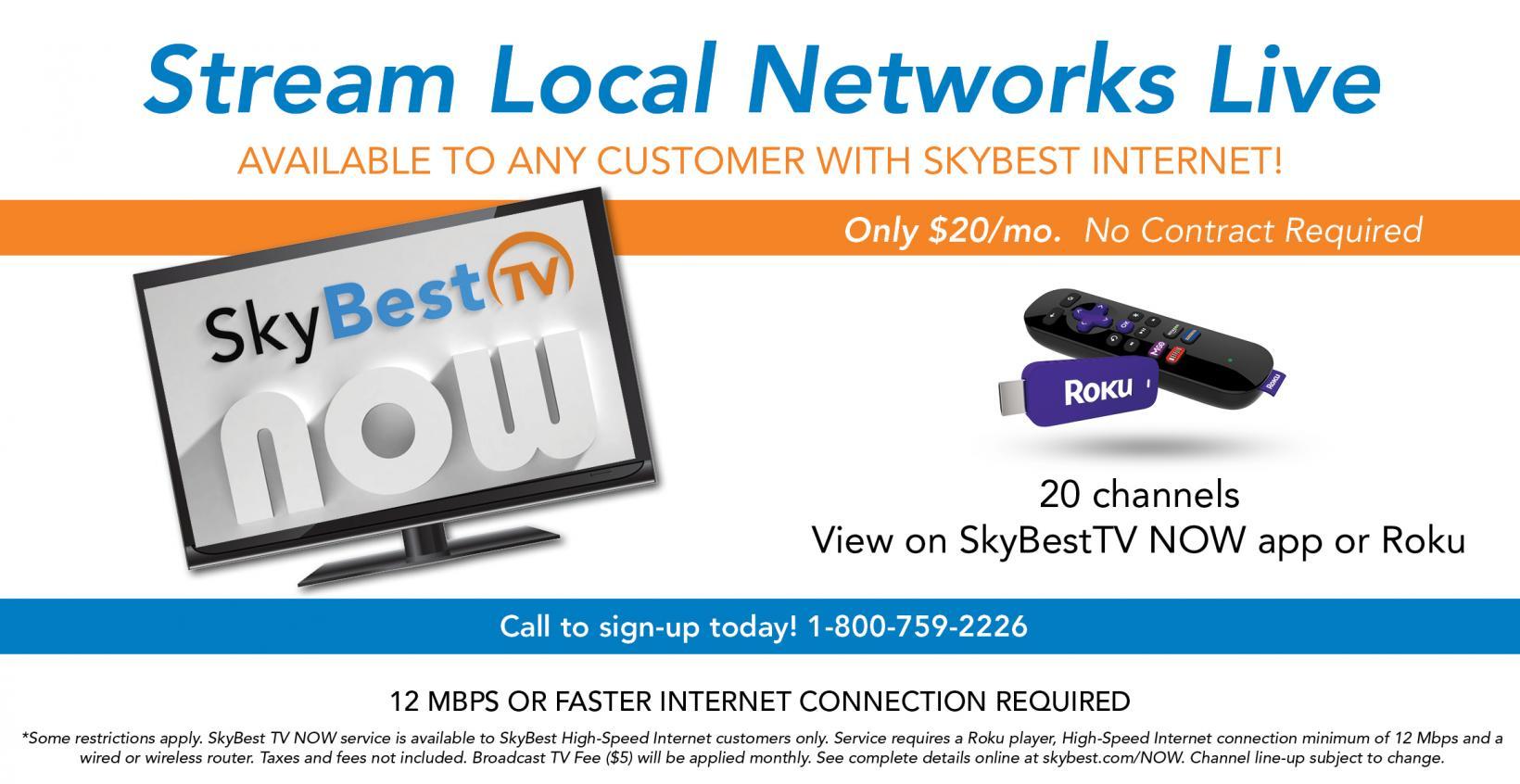 SkyBest TV NOW eBill | SkyLine/SkyBest
